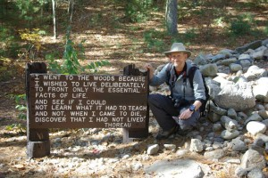 Ray with Thoreau at Walden Pond 2013