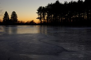 Sunset at the Frozen Reservoir