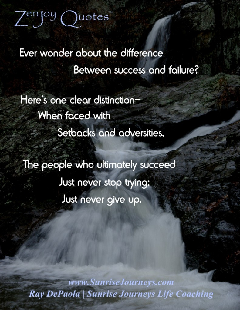 Difference between Success and Failure